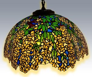 Pendant Tiffany Lamp - Laburnum Pattern