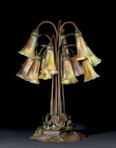 Tiffany Studios Twelve Light Pond Lily Lamp.