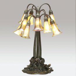 Tiffany Studios Twelve Light Pond Lily Table Lamp