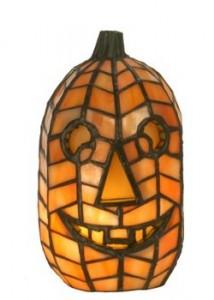 Meyda Tiffany Style Halloween Jack-o'-Lantern Lamp Picture