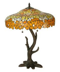 Picture of Meyda Tiffany's Autumn collection small table lamp
