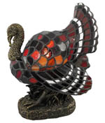 Turkey Tiffany Accent Lamp Picture